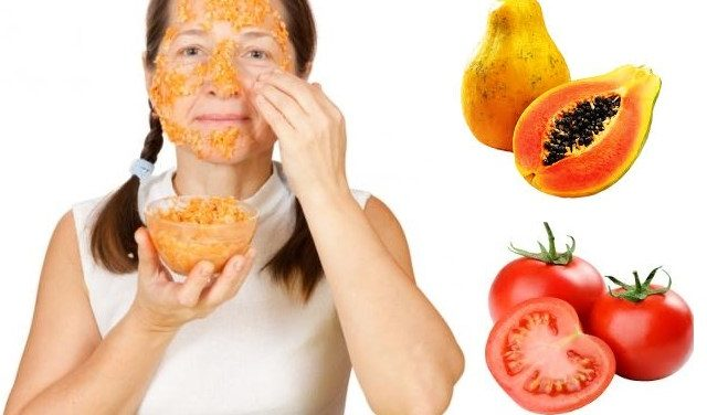 Papaya-And-Tomato-Face-mask